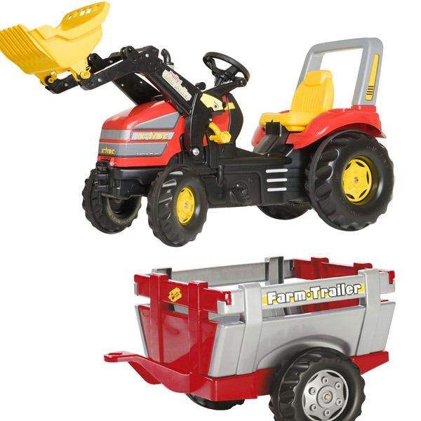 Traktor na pedale Rolly Toys Utovarivač sa Farm prikolicom 046836 - ODDO igračke