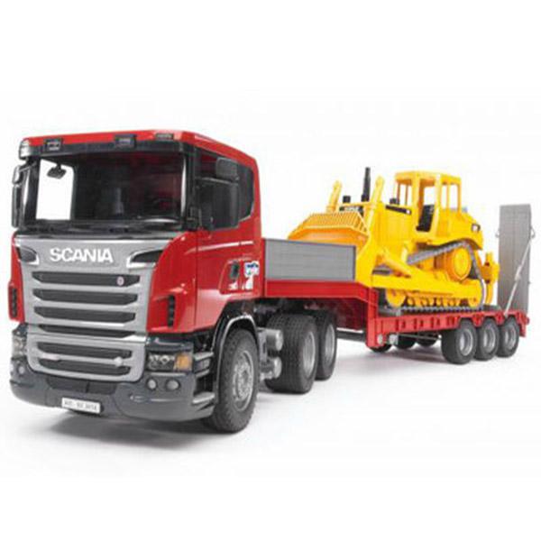 Kamion Bruder Scania sa buldožerom CAT 035556 - ODDO igračke