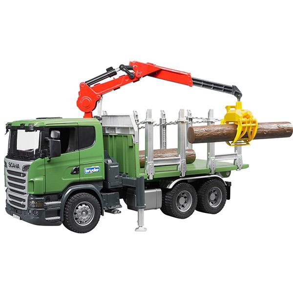 Kamion za prevoz drva Bruder Scania 035242 | ODDO igračke