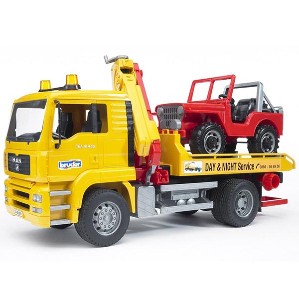 Kamion sa džipom Bruder MAN servis 027506 - ODDO igračke