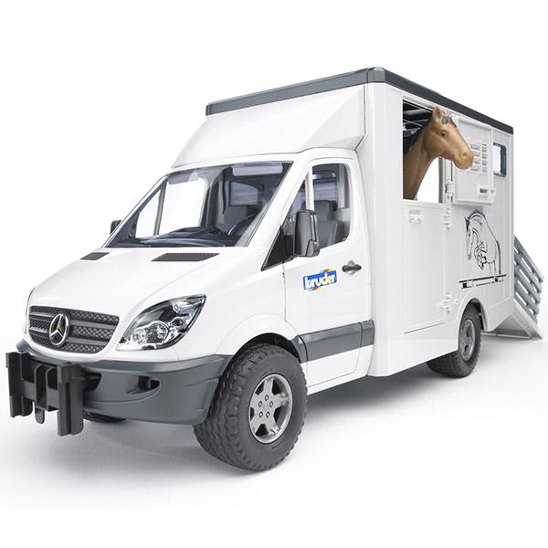 Kamion za prevoz konja Bruder Mercedes Benz Sprinter 025335 - ODDO igračke