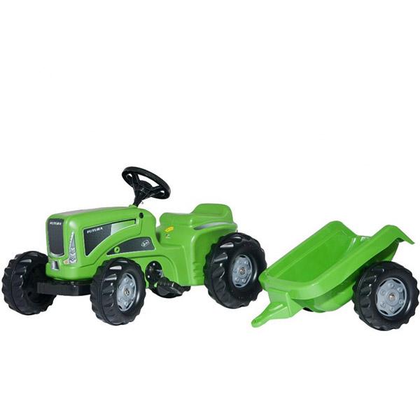 Traktor na pedale Rolly Toys Kiddy Futura zeleni sa prikolicom 620005 - ODDO igračke