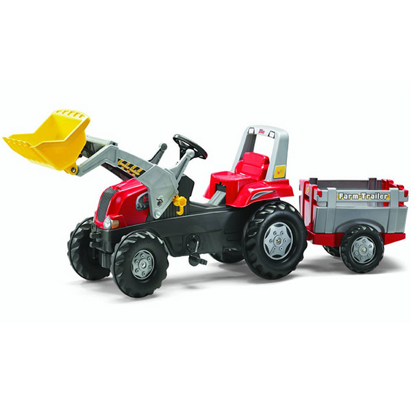 Traktor na pedale sa prednjom kašikom i prikolicom Rolly Toys Rolly Junior 811397 - ODDO igračke