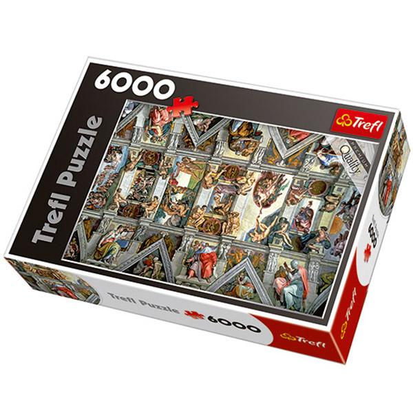Trefl puzzla Sistine chapel ceiling 6000pcs 65000 - ODDO igračke