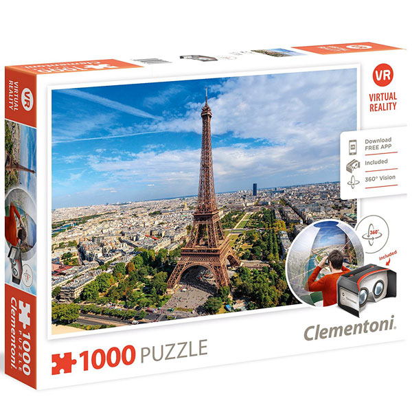 Clementoni puzzla Virtual Reality Paris 1000pcs 39402 | ODDO igračke