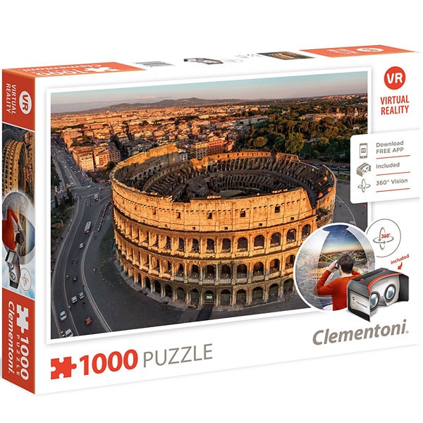 Clementoni puzzla Virtual Reality Rome 1000pcs 39403 - ODDO igračke
