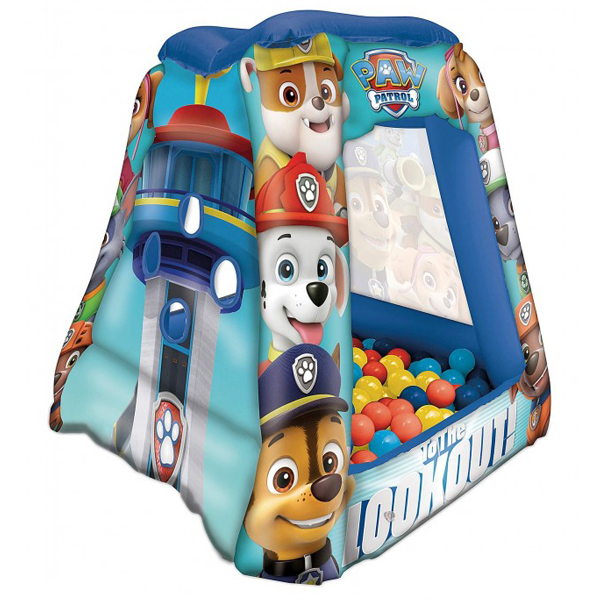 Paw Patrol kućica na duvanje sa 20 lopti 86x86x85cm PWP-7065 - ODDO igračke