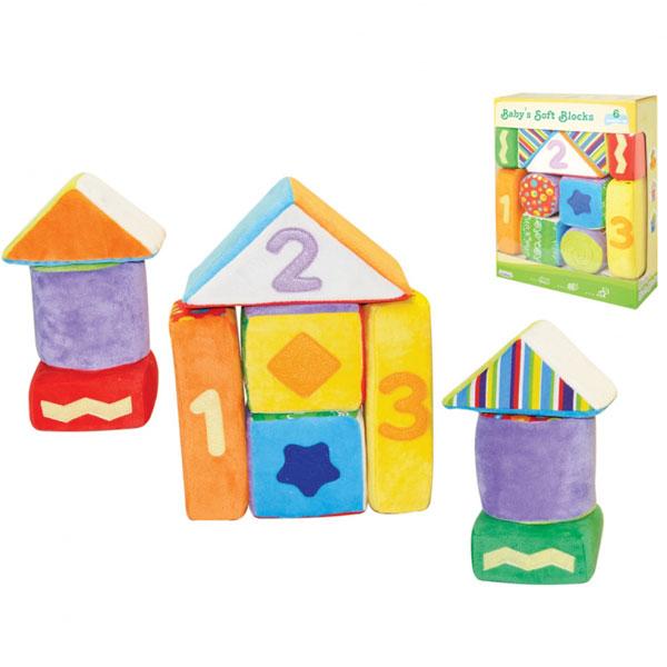 Plišane kocke za bebe mekani set Parkfield 81070 - ODDO igračke