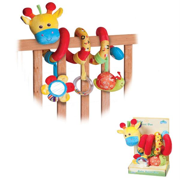 Plišana igračka spirala za bebe Žirafa Parkfield 81403 - ODDO igračke
