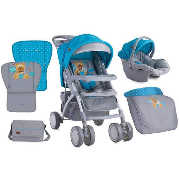 Kolica Rio Set Blue & Grey Hello Bear Bertoni 10020641718 - ODDO igračke