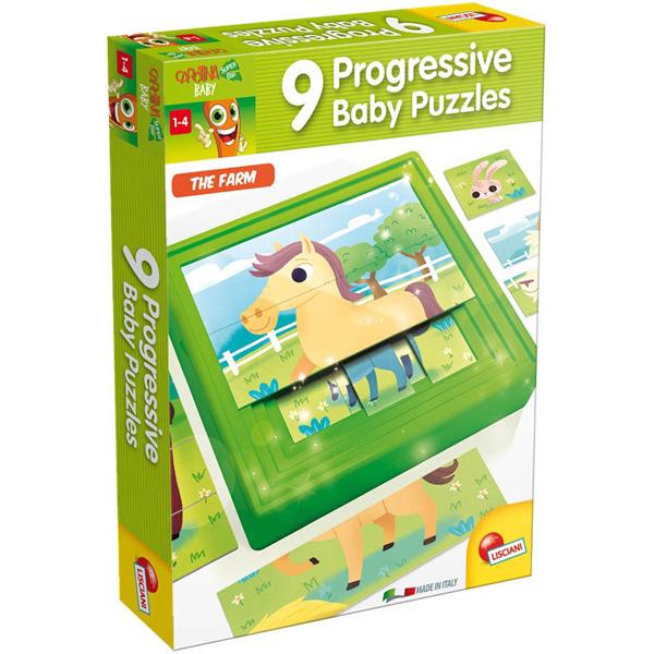 Edukativna slagalica baby Progressive Farma Lisciani 47420/58440 - ODDO igračke