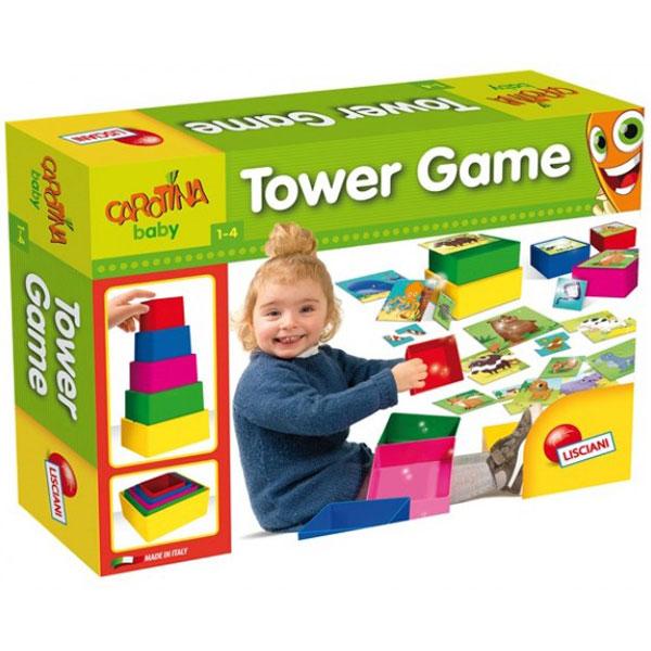 Edukativni set slaganje kule Tower Game Lisciani 57696 - ODDO igračke