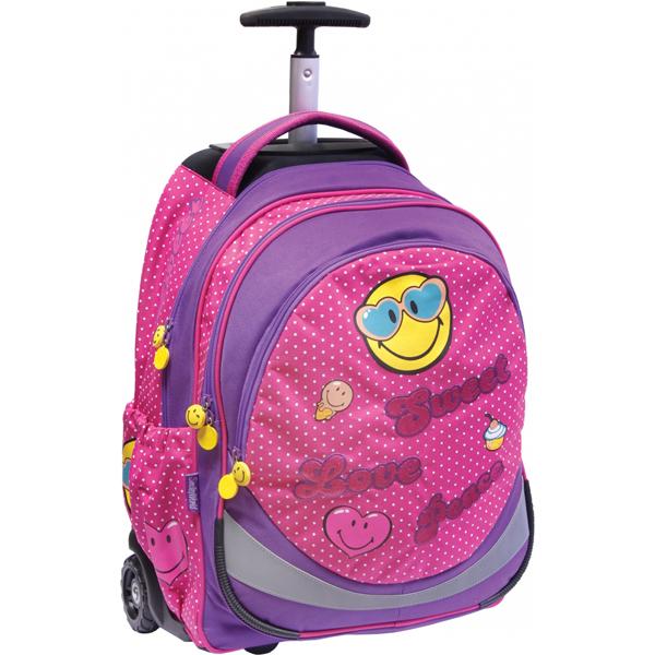 Trolley ranac Smiley Pink 51797 - ODDO igračke