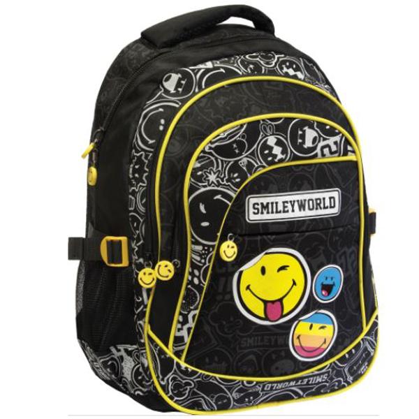 Školski ranac Smiley Round crno/sivi 52029 - ODDO igračke