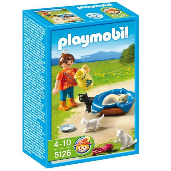 Playmobil Farma Devojčica sa macama 5126 - ODDO igračke