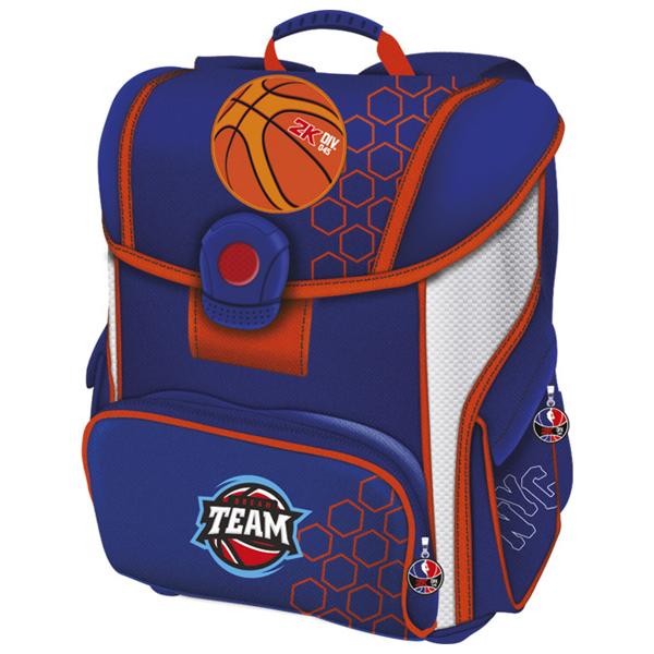 Torba Connect  đačka anatomska Basketball 16 plavo-narandžasta 607723 - ODDO igračke