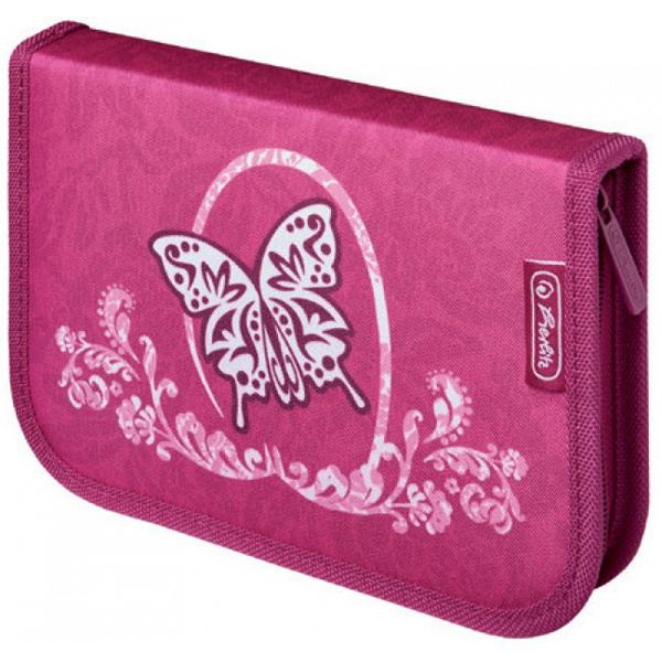 Pernica Herlitz puna 1 zip 2 preklopa Rose Butterfly 11438611 - ODDO igračke