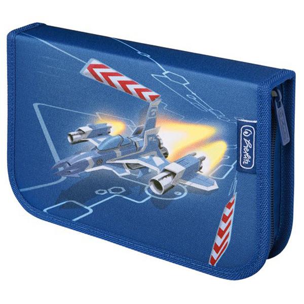 Pernica Herlitz puna 1zip 2 preklopa Space ship 11438660 - ODDO igračke