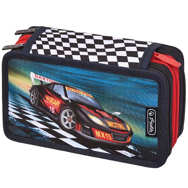 Pernica Herlitz puna 3 zipa 3 preklopa Super racer 11438728 - ODDO igračke