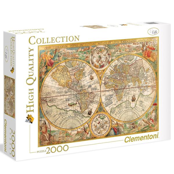 Clementoni Puzzla Ancient Map 2000 pcs 32557 - ODDO igračke