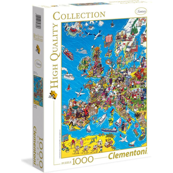 Clementoni puzzla Mapa of Europe 39384 1000 pcs 39384 - ODDO igračke