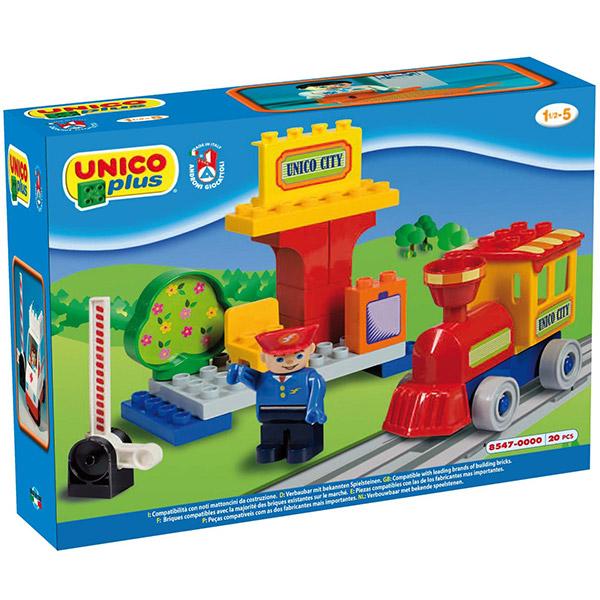 Kocke Mala železnička stanica 085474 - ODDO igračke