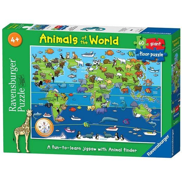 Podna Puzzla Ravensburger Životinje sveta RA07072 - ODDO igračke