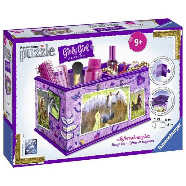 Ravensburger 3D puzzle (slagalice) Kutija za šminku sa konjem RA12072 - ODDO igračke