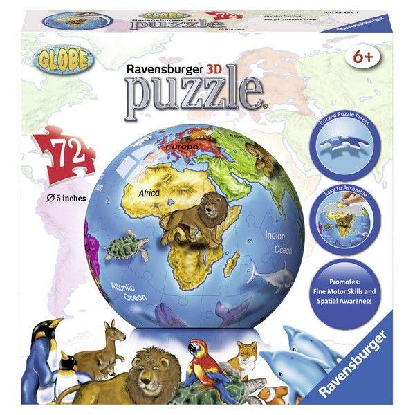 Ravensburger 3D puzzle (slagalice) Globus sa životinjama RA12126 - ODDO igračke