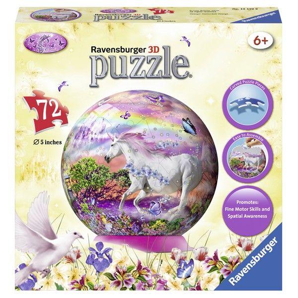 Ravensburger 3D puzzle (slagalice) 72pcs Lopta sa jednorogom RA12129 - ODDO igračke