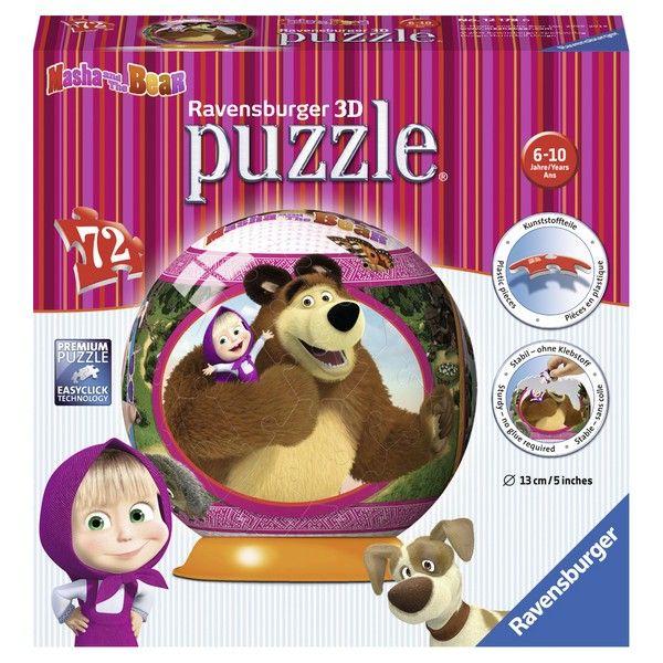 Ravensburger 3D puzzle (slagalice) 72pcs Maša I medved RA12178 - ODDO igračke