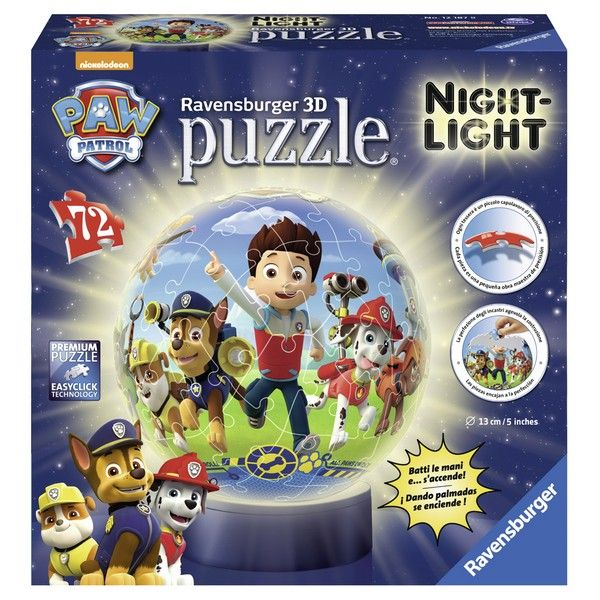 Ravensburger 3D puzzle Noćna lampa 72pcs Paw patrol RA12187 - ODDO igračke