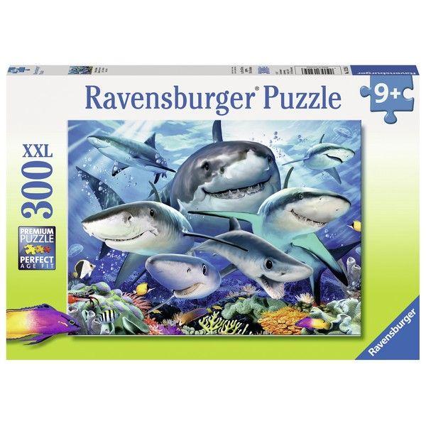 Ravensburger puzzle (slagalice) 300XXL Nasmejane ajkule RA13225 - ODDO igračke