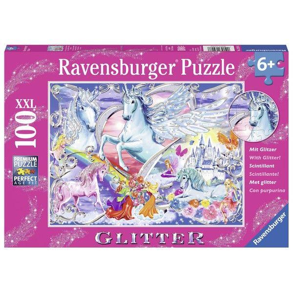 Ravensburger puzzle (slagalice) 100pcs Jednorog sa šljokicama RA13928 - ODDO igračke