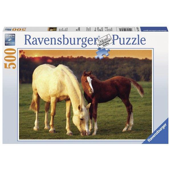 Ravensburger puzzle (slagalice) 500pcs Kobila I zdrebe RA14347 - ODDO igračke