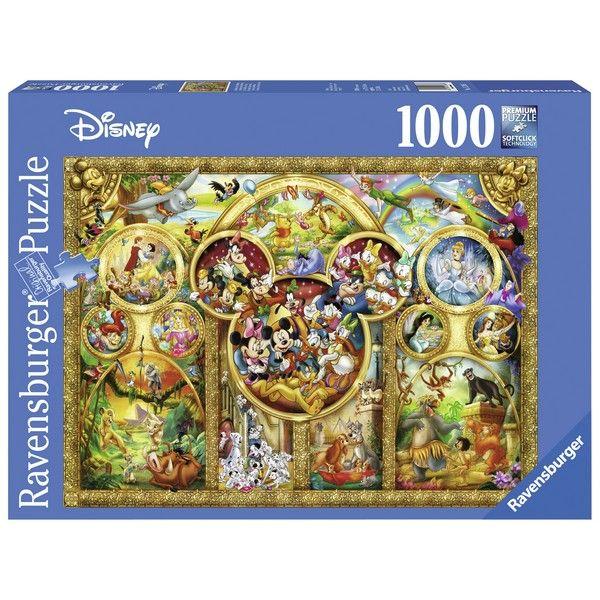 Ravensburger puzzle (slagalice) Diznijevi likovi u zlatu 1000pcs RA15266 - ODDO igračke