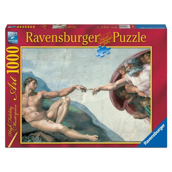 Ravensburger puzzle 1000pcs Michelangelo The Creation of Adam RA15540 - ODDO igračke