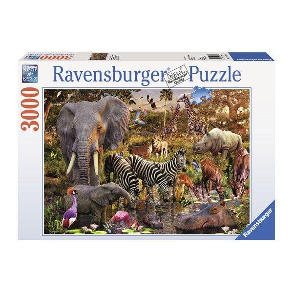 Ravensburger puzzle (slagalice)- Africke zivotinje 3000 RA17037 - ODDO igračke