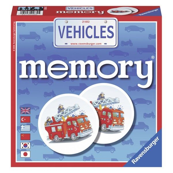 Ravensburger društvena igra Memorija sa vozilima RA21832 - ODDO igračke