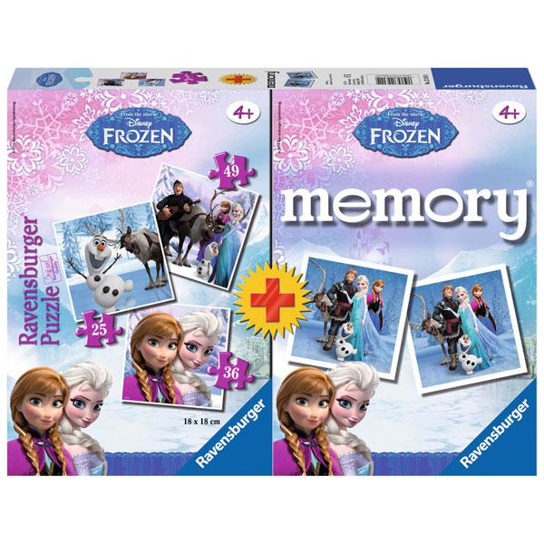 Ravensburger društvena igra Frozen puzle + memorija RA22311 - ODDO igračke