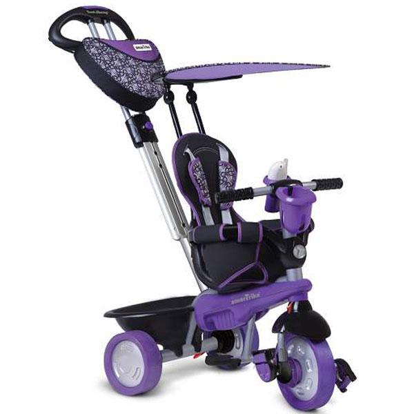 Tricikl sa ručkom i tendom Smart Trike Dream Team Ljubičasti 1590400 - ODDO igračke