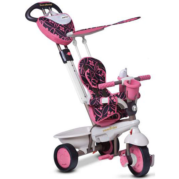 Tricikl sa ručkom i tendom Smart Trike Dream Team Pink 1590200 - ODDO igračke