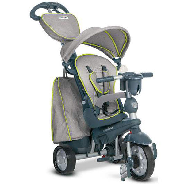 Tricikl sa ručkom i tendom Smart Trike Explorer Grey/Green 8200900 - ODDO igračke