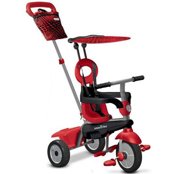Tricikl sa ručkom i tendom Smart Trike Vanilla 4u1 Crveni 6652500 - ODDO igračke