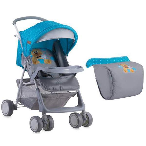 Kolica Terra sa Zimskom Navlakom Blue & Grey Hello Bear 10020961718A - ODDO igračke