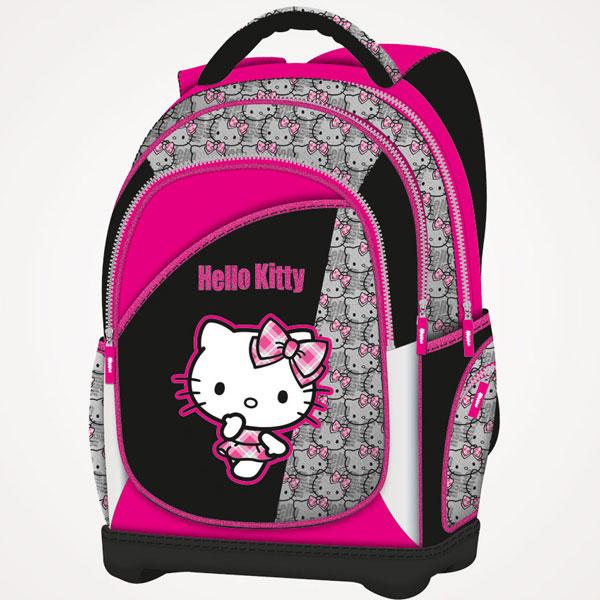 Đački ranac anatomski lagan Hello Kitty Punk Chic 16.Connect roze-crni 607664 - ODDO igračke