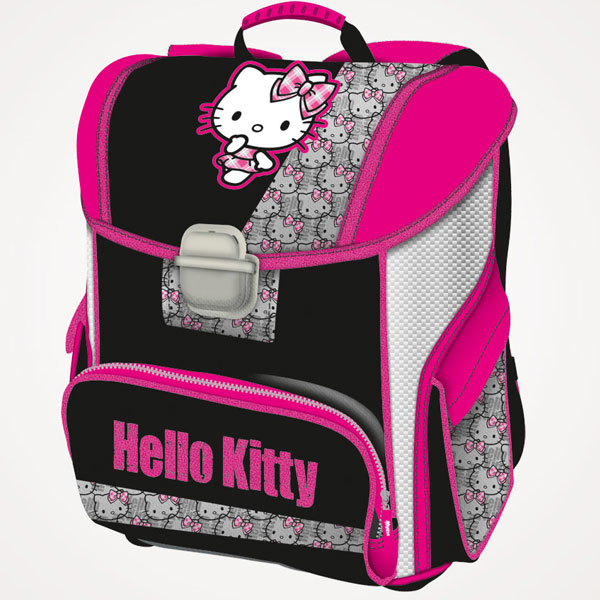 Đačka anatomska torba Hello Kitty Punk Chic 16.Connect crna 607663 - ODDO igračke