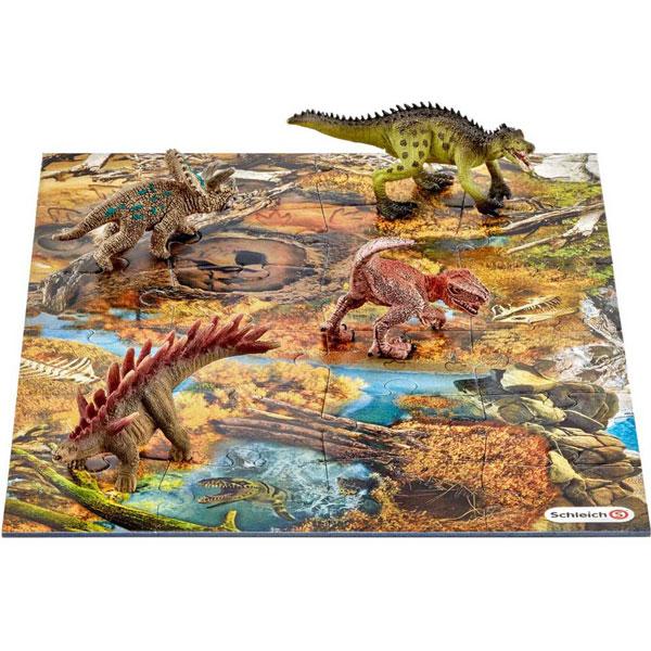 Schleich Mali dinosaurus sa podlogom od puzli 42331 - ODDO igračke