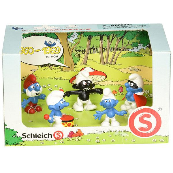 Schleich Set Štrumpfova 1960-1969 41255 - ODDO igračke