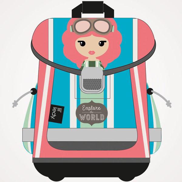 Školske torbe Lil Ledy Traveler anatomske G4186521 - ODDO igračke